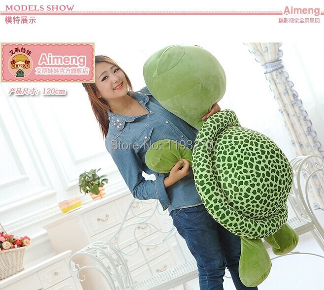 huge 120 cm turtle plush toy big head tortoise doll throw pillow,Christmas gift w1903 2017 new arriving 40cm big eyes turtle plush toy turtle doll turtle kids as birthday christmas gift free shipping