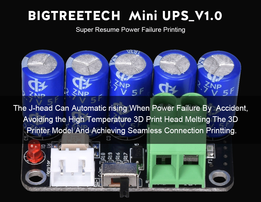 🛒[qv5bg] BIGTREETECH MINI UPS V1 0 Power Off Resume Print