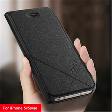 For iPhone 5s Case iPhone5 ALIVO Leather Flip Cover Phone Case for iPhone 5 5s SE Wallet Full Protective Cover цены