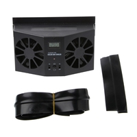 Black White Solar Power Car Window Windshield Auto Air Vent Cooling Exhaust Dual Fan System Cooler