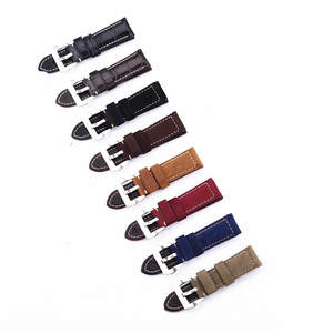 1PCS 22MM 24MM 26MM genuine cow leather Watch band watch strap man watch straps 8 colors available-0017WS