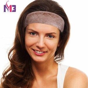 Image 2 - 12 ชิ้น/ล็อตขายส่งแฟชั่นผู้หญิงวิกผมกำมะหยี่ Grip Headband ปรับได้หัวผมวงดนตรีหญิงโยคะกีฬาเหงื่อวง Headband