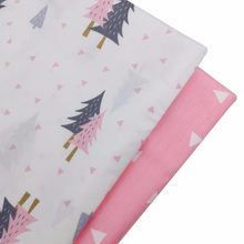Syunss Diy Patchwork Cloth For Quilting Baby Cribs Cushions Dress Tilda Sewing Tissus Pink Trees Printed Cotton Fabric Tecido(China)