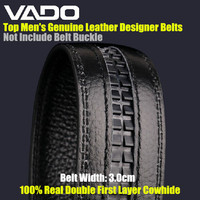 VADO Brand 3cm Top Men S Genuine Leather Designer Belts 100 Real Double First Layer Cowhide