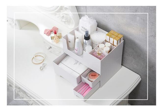 1PC Combinable Nail Polish Lipstick Storage Box Makeup Organizer Cosmetic Jewelry Case Drawer Desktop Sundries Container OK 0699 in Storage Boxes Bins from Home Garden
