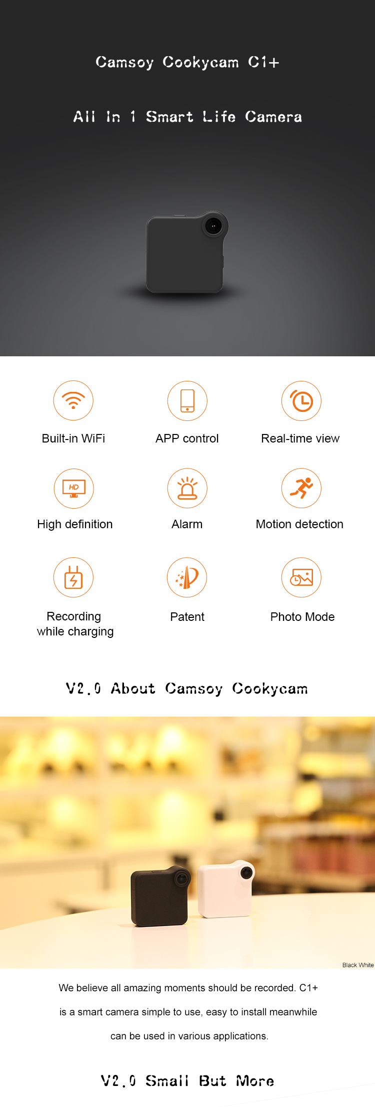 C1+ Camsoy Cookycam WiFi Mini Camera   (1)
