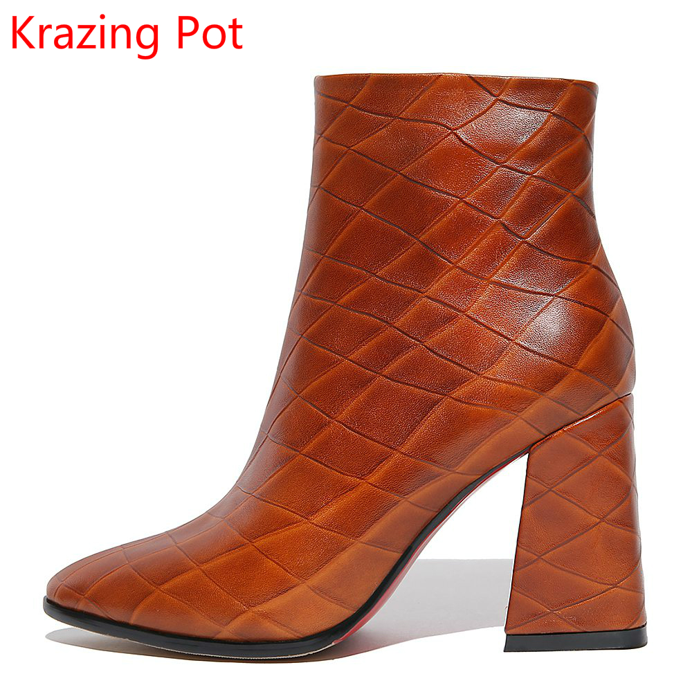 Fashion Genuine Leather Winter Boots Streetwear High Heels Superstar Motorcycle Boots Pointed Toe Women 41 42 43 Ankle Boots L20 босоножки fenyaie 653 43 42 41