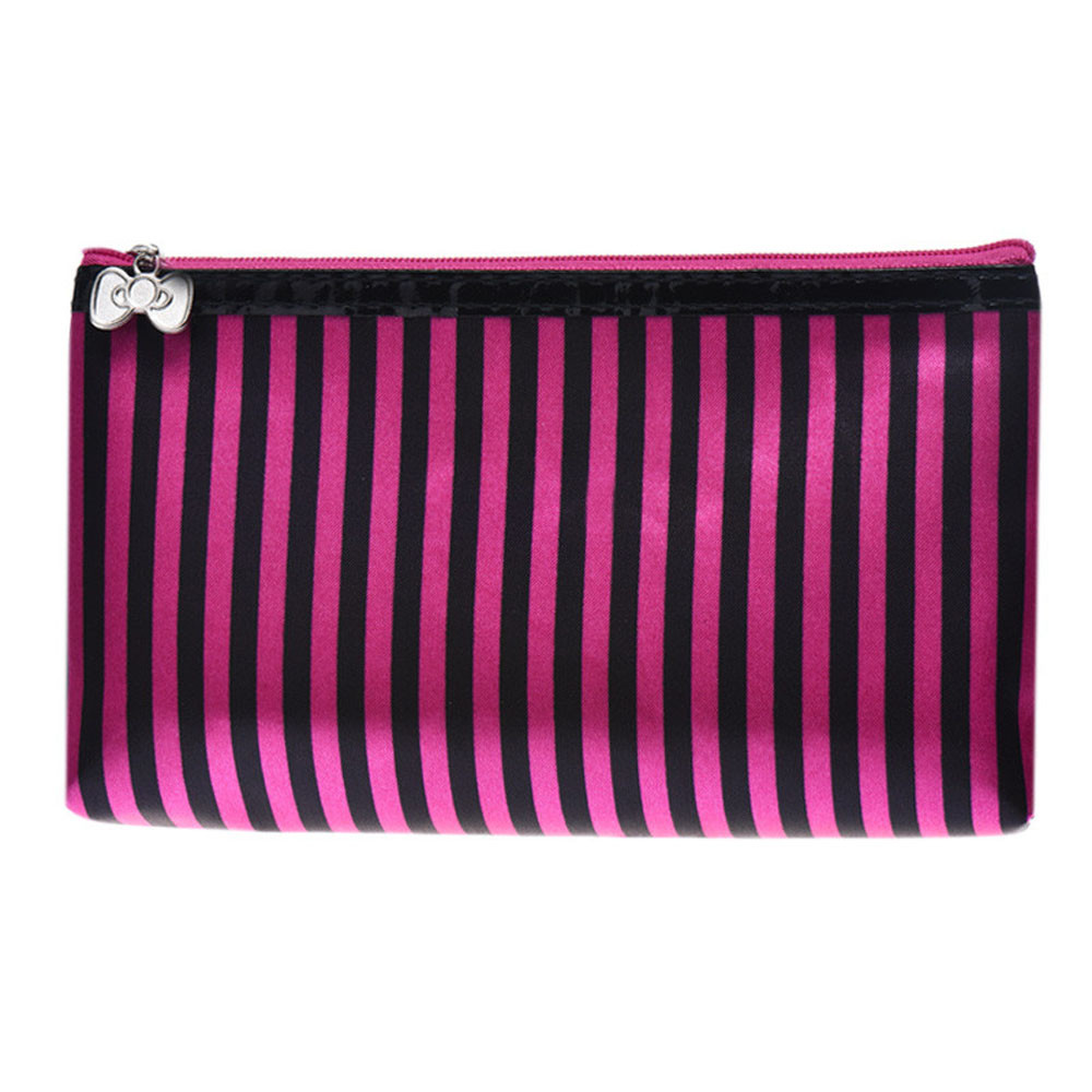 Aelicy Women Cosmetic Bag Stripe Portable Travel Makeup Bag Multifunction Beauty Travel Cosmetic Bag Makeup Case