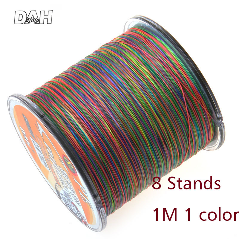1 Meter 1 Color! 8 stands 500m PE fishing line Brand Multicolour Braided Line pesca Multifilament strong Fishing Line Cheap Free simpleyi lure as gift 1000m 8 stands x8 multifilament pe braided fishing line tackle 10lb 80lb 90lb 100lb 120lb to 300lb wire
