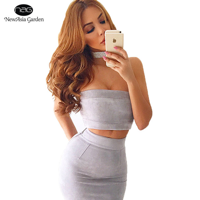 31db976398015 Strapless Sexy Women s Tube Tops Suede Crop Tops Autumn Winter Spring  Summer Bustier Bandeau Good Quality High Elasticity New