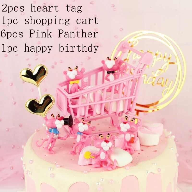 День Рождения вечерние воланами для маленьких девочек украшение автомобиля, кролик, медведь, летний розовый Фламинго тема, детский душ набор для выпечки тортов DIY