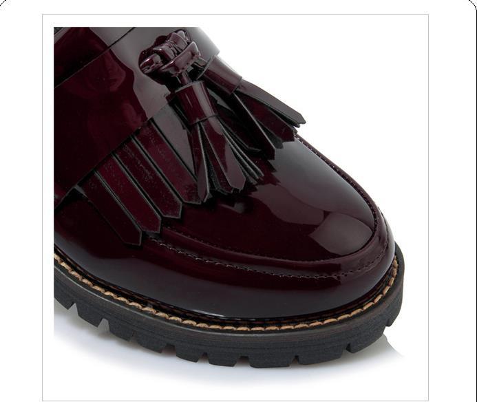 Chaussures Rouge Femmes vin Grande Arc Petites Nouveau Taille De Coréennes Collège 2018 Japonais Vent Des Choisit Noir Britannique tfTqvOwX