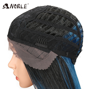 """Image 5 - Noble Hair 20""""Inch Synthetic Lace Front Wig For Black Women Heat Resistant Straigtht Hair African American Braided Wig For Women"""