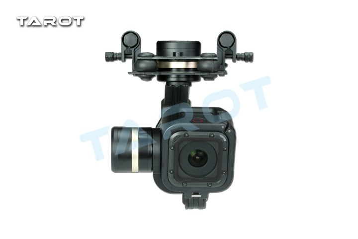 Tarot GOPRO T-3D IV Metal 3 Axis Brushless Gimbal for GoPro Hero 4 Session dji phantom 2 build in naza gps with zenmuse h3 3d 3 axis gimbal for gopro hero 3 camera