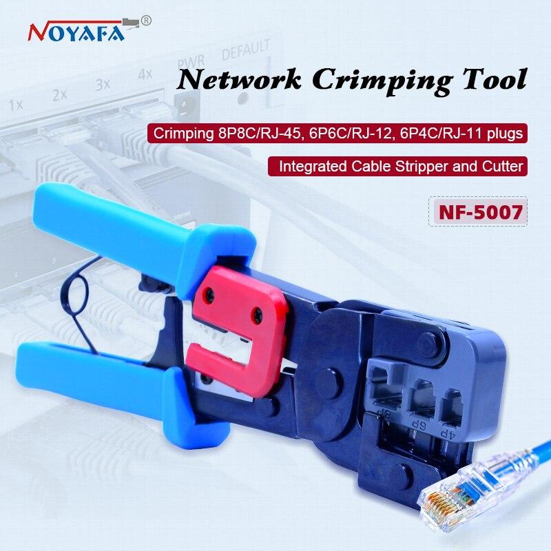 NOYAFA NF-5007 lan network tool kit Cat6 Cat5 RJ45 Crimper Crimping tool set network cable crimping pliers lodestar l21376e professional network telephone plug crimping tool pliers yellow black