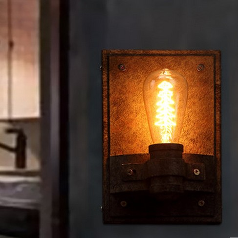 Nordic Loft Style Edison Wall Sconce Industrial Vintage Wall Lamp Stair Wall Light Fixtures For Home Lighting Lampara Pared edison wall sconce 60w retro style loft industrial lamp vintage wall light fixtures arandela lampara de pared
