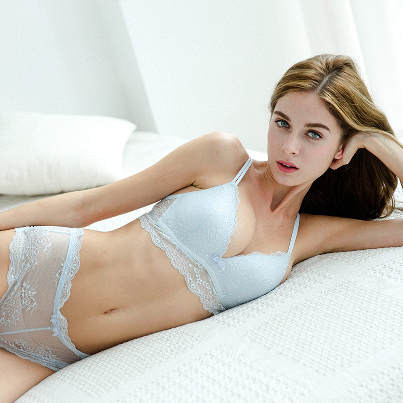 09e7ae54a CINOON Sexy women Triangle cup lingerie Lace underwear Cotton bra set Push  Up brassier comfortable and