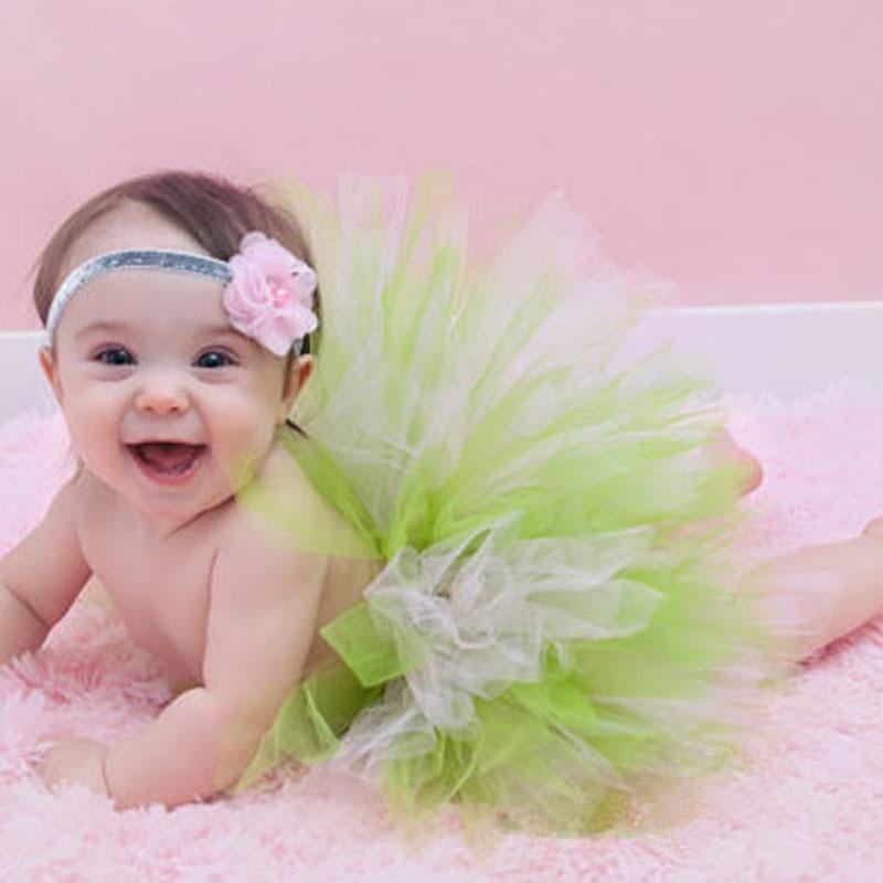 Super-Sweet-Pink-and-Ivory-Precious-Newborn-Tutu-and-Flower-Headband-Set-Baby-Photography-Props-Girls-Tutu-Skirt-TS028-5