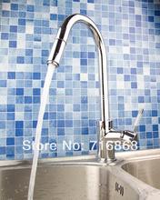 S-021 вытащить хромированная отделка Поворотный кухонная мойка кран смесителя