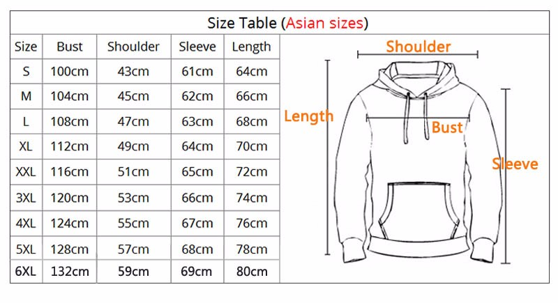 Hoodie Size