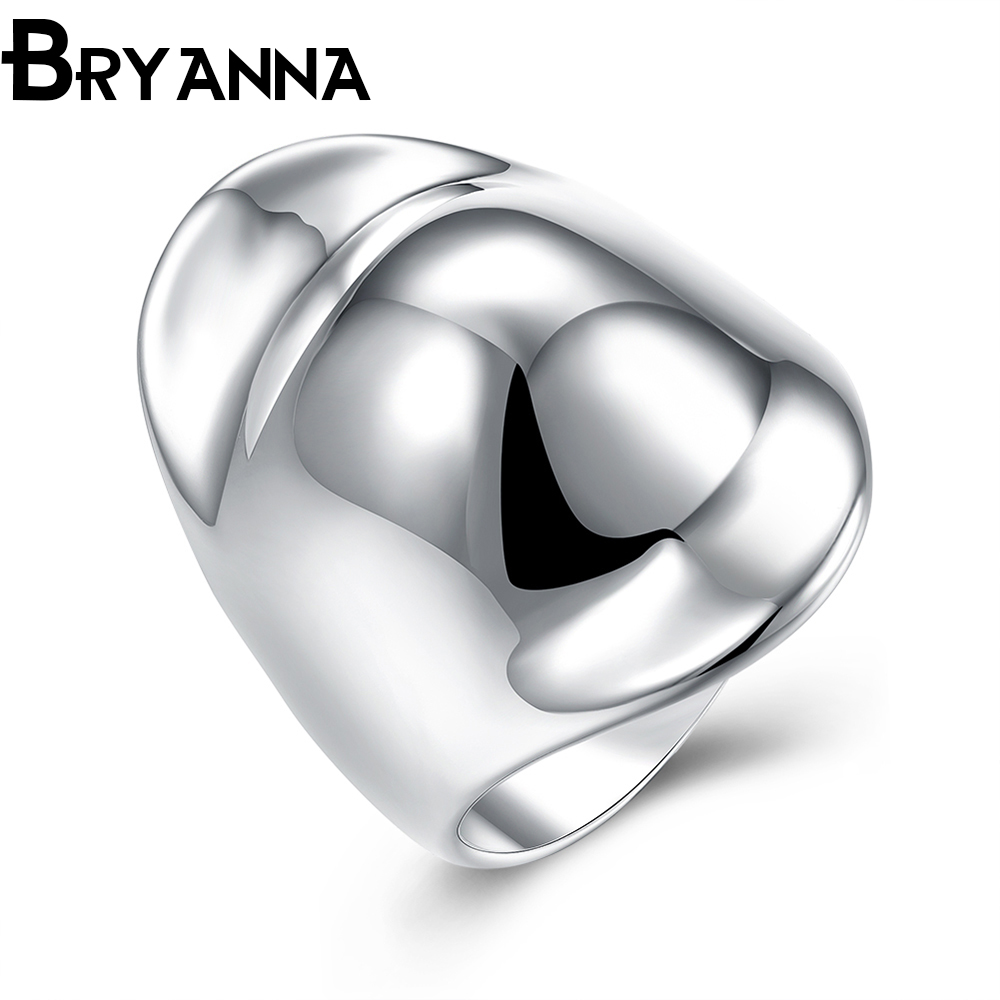 Bryanna New Trendy Plated Silver Thumbs Cat Rings For Women Fashion Jewelry  Bijoux Femme Couple Wedding