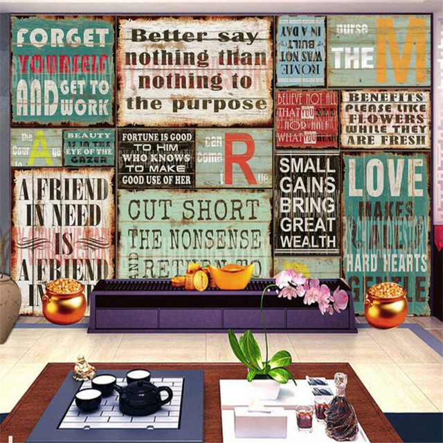 Beibehang Customize any size wall paper European style retro wall