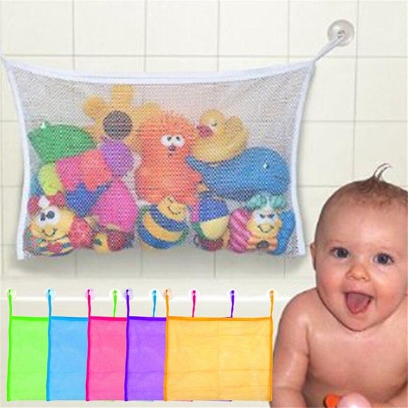 Brinquedo do banho de Lavagem de Banho Do Bebê Banho Do Bebê Pendurado Recipiente De Armazenamento Dobrável Malha Net Divertido Brinquedos Organizador Brinquedos para Crianças brinquedos para o banho