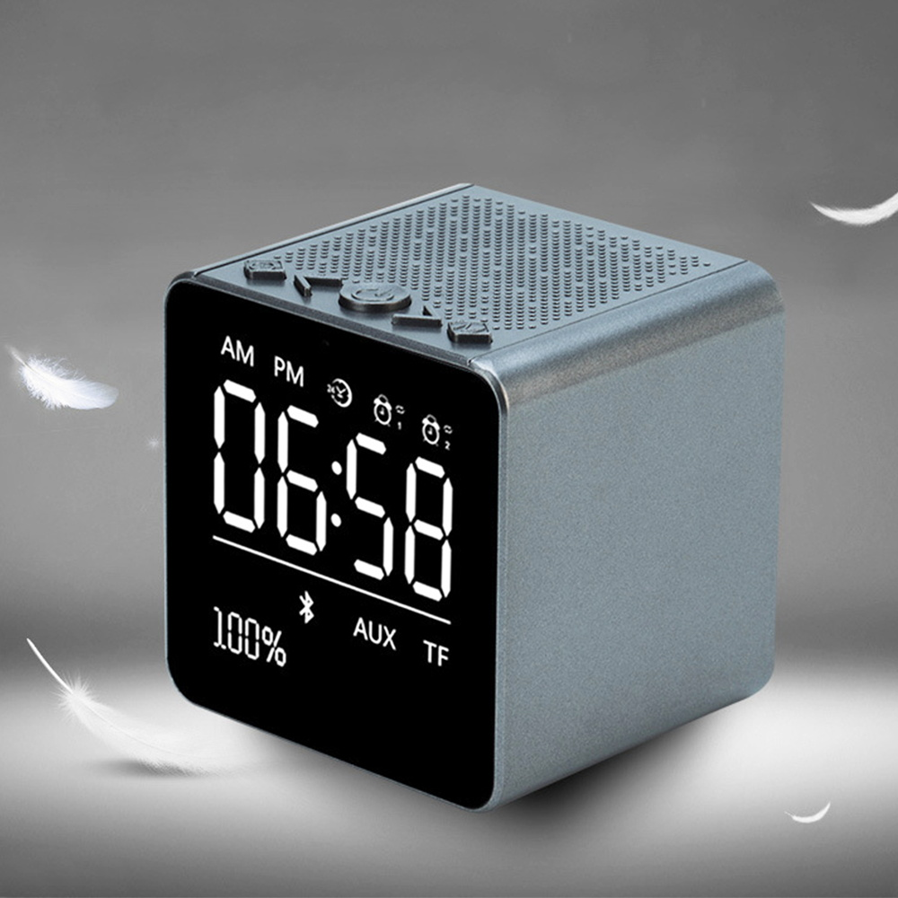 Portable Digital Alarm Clocks Led Wireless Bluetooth