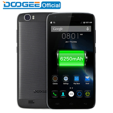 DOOGEE T6 pro mobile téléphones 5.5 Pouces HD 3 GB RAM + 32 GB ROM Android 6.0 Double SIM MTK6753 Octa Core 13.0MP 6250 mAH WCDMA LTE WIFI GSM