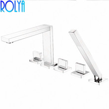 2016 Wholesale New Arrival High Quality Luxurious Chrome Finish 5 Holes Shower Bath Mixer Tap