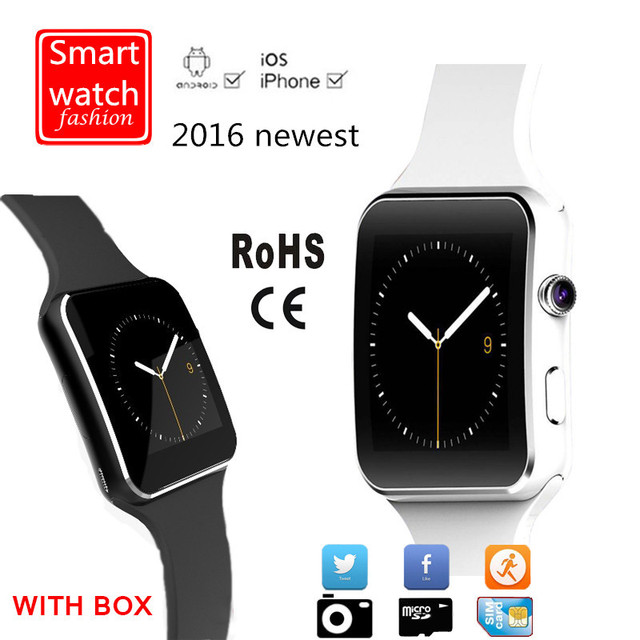 2016 New Bluetooth Smart Watch With Camera Support SIM Card Smartwatch X6 Wearable Devices For Apple iPhone Android Phone DZ09