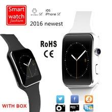 2016 neue Bluetooth Smart Uhr Mit Kamera-unterstützung Sim-karte Smartwatch X6 Tragbare Geräte Für Apple iPhone Android Telefon DZ09