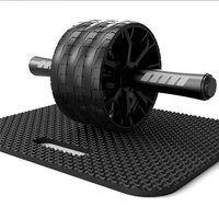 Ab dominal exercise equipment three silent abdominal exercise device abdominal Wheel Ab Roller men's and women's giant wheels