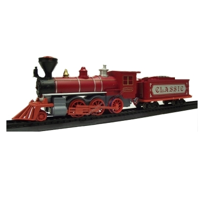 Medium Red Steam Locomotive Electric Toy Orbit Model Train Accessories Steam Locomotive