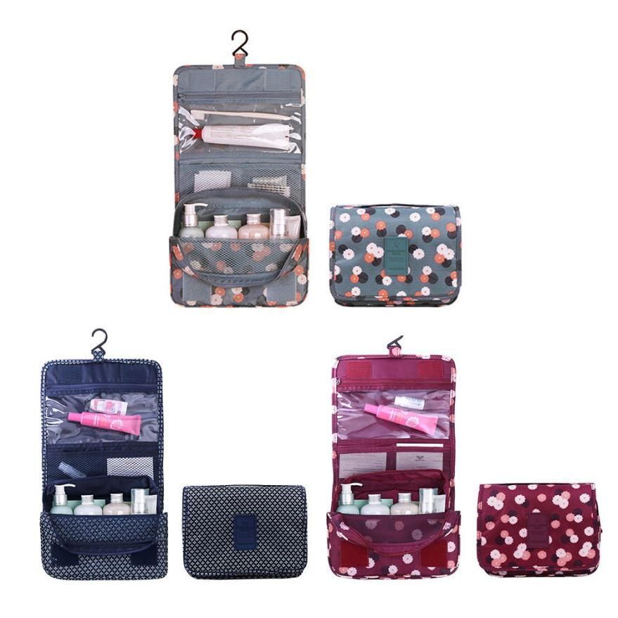 ximiu Hanging wash practical portable travel organizer storage cosmetic bag fashion zipper floral Nylon women handbags 2018