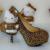 Leopardo de Oro y Negro Zapatos de Boda de diamante de Imitación con Hello Kitty Vestido de Novia Zapatos de Plataforma Del Partido Zapatos de Baile Más El Tamaño 11