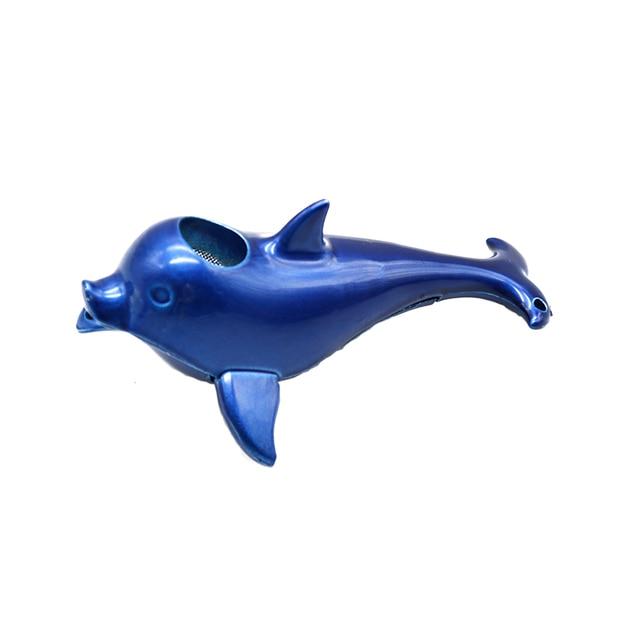Mini Dolphin   Creative Red Black Blue Mini Dolphin Smok Glass Pipes Portable
