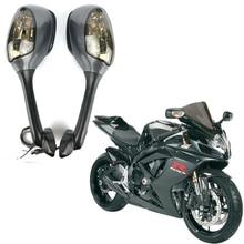 אופנוע Rearview מראות צד לסוזוקי GSXR 600 750 1000 LED להפוך אות אור מראה 2005 2006 2007 2008 2009 10 K6 K7 K8