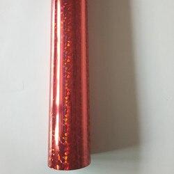 Holographic foil stamping foil  red color broken design hot press on paper or plastic heat stamping film
