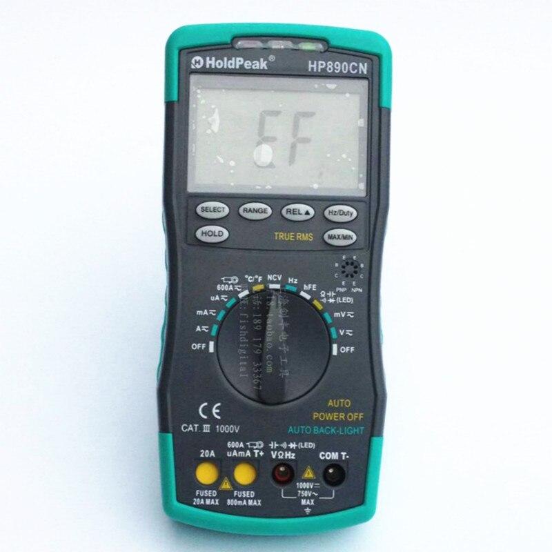 HoldPeak HP890CN Digital Multimeter DC AC Voltage Current Meter Temperature Meaurement Auto Range HP-890CN mini multimeter holdpeak hp 36c ad dc manual range digital multimeter meter portable digital multimeter