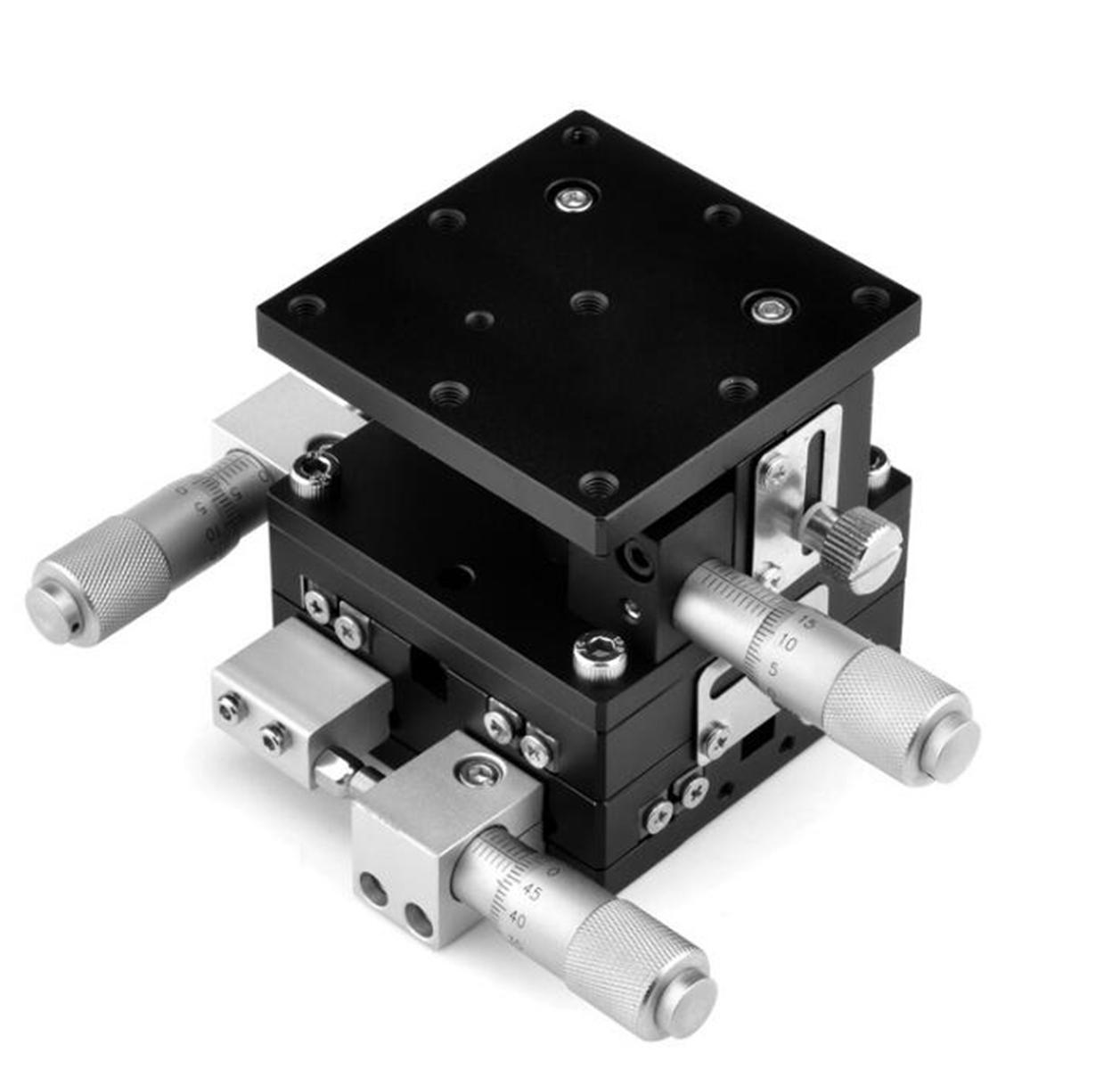 XYZ 60X60mm Inseparable Horizontal Precision Linear Stage Cross-roller Bearing For Automation Sliding Linear CNC PhotologyXYZ 60X60mm Inseparable Horizontal Precision Linear Stage Cross-roller Bearing For Automation Sliding Linear CNC Photology