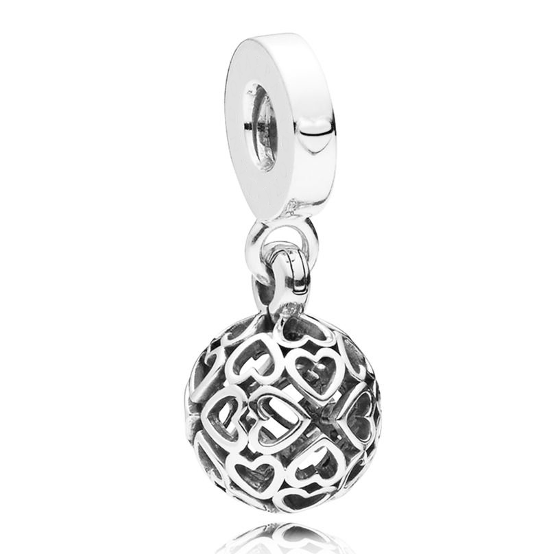 New 925 Sterling Silver Bead Charm Openwrok Harmonious