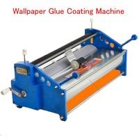 Manual 53cm Wallpaper Glue Coating Machine Coater Wallpaper Paste Cementing Gumming Starching Gluing Machine
