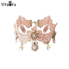 YiYaoFa Vintage Collar Lace Necklace & Pendant Choker Necklace for Women Accessories Lady Gothic Party Jewelry GN-66(China)