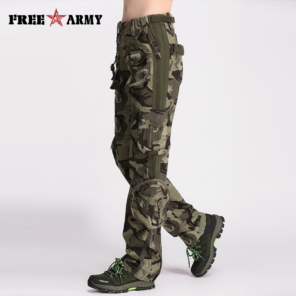 Brand Plus Size Women   Pants   Camouflage Cargo   Pants   Unisex   Pants   &   Capris   Army Military   Pants   Man Pockets Women's Clothing