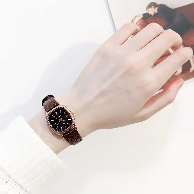 Simple Leather Square Small Dial Watch Fashion Women Dress Wrist Watches Minimalist Fresh Female Clock Hours Erkek Saat