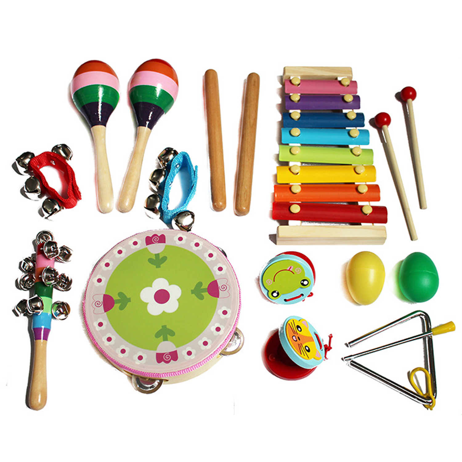 Plastic Rattle Musical Percussion Instrument Toy for Kids Educational Toy