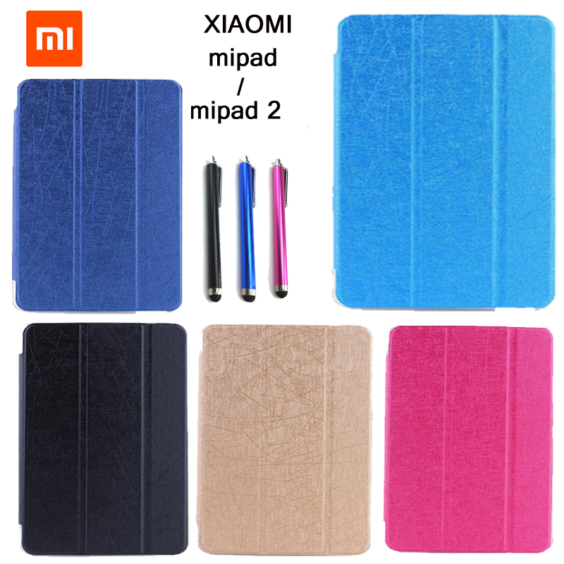 Fashion Slim Folio folding stand cover case for xiaomi mi pad 1 / for XIAOMI mipad 1 Tablet case cover new 10 1 inch best quality me302kl lcd for asus memo pad fhd10 me302 lcd display touch screen digitizer assembly