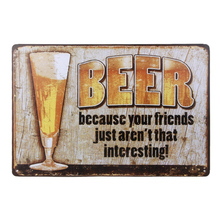 Beer Tin Sign Wall Retro Metal Bar Pub Poster Vintage Wall Decor St. Patrick Day Supplies