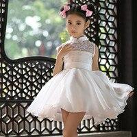 Princesa blanco puffy Tutu vestido niña vestido de bola para la venta al por mayor del partido traje de boda para 12 años SKD001454